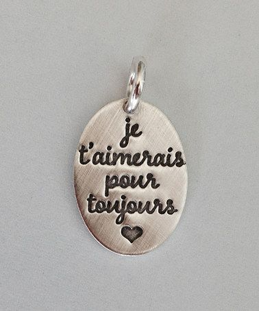 Look what I found on #zulily! Sterling Silver 'I'll Love You Forever' French Charm #zulilyfinds
