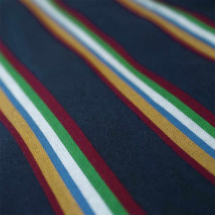 Contare Multi Stripe Satin Stripe Weave