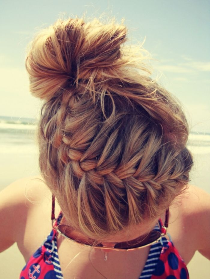 Le plage et le soleil bonne idée coiffure                                                                                                                                                                                 Plus