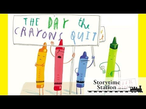 The Day the Crayons Quit by Drew Daywalt - Books for kids read aloud! - YouTube