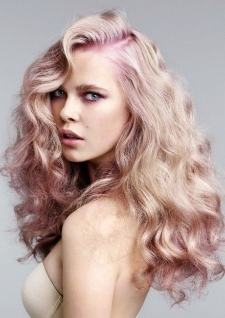 Bleached with a hint of purple? Different and can be styled for day to day routine.