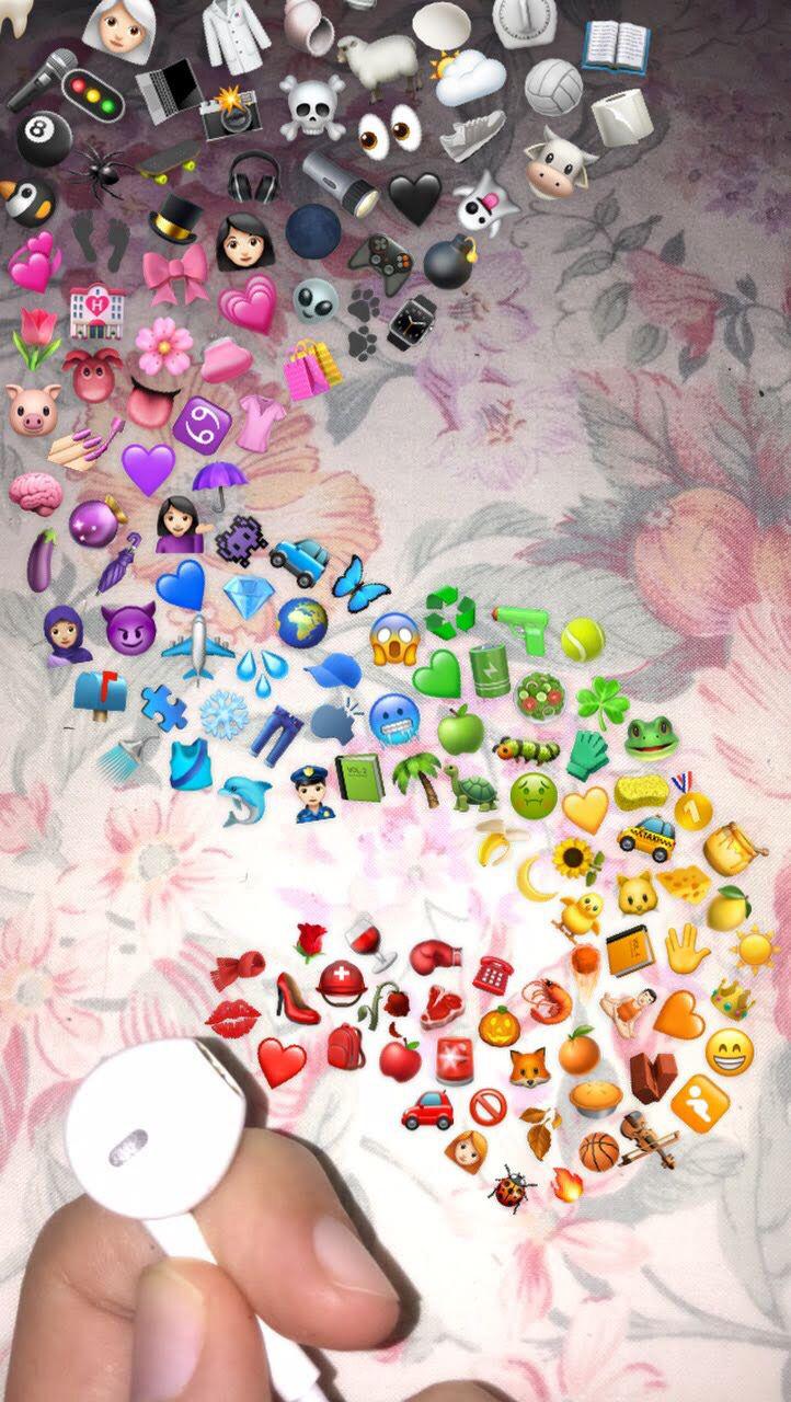 Earphones With Emojis Fond D Ecran Telephone Fond D Ecrant Iphone Fond D Ecran Emoji Iphone