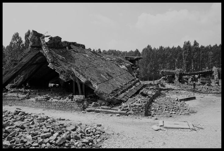 Ruins of gas chamber and crematorium II   by Gatersleben (flickr)