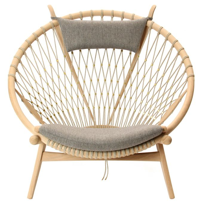 The Circle Chair by Hans J. Wegner. I love how this looks!