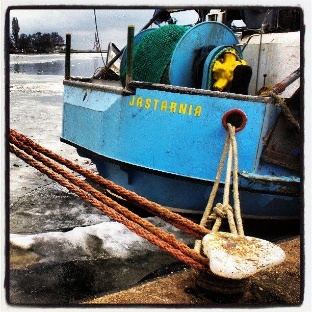 Port rybacki Jastarnia, kutry rybackie, Morze Bałtyckie zima, trałowiec rybacki, Rybacy, Ludzie Morza,  Photo by http://marynistyka.org