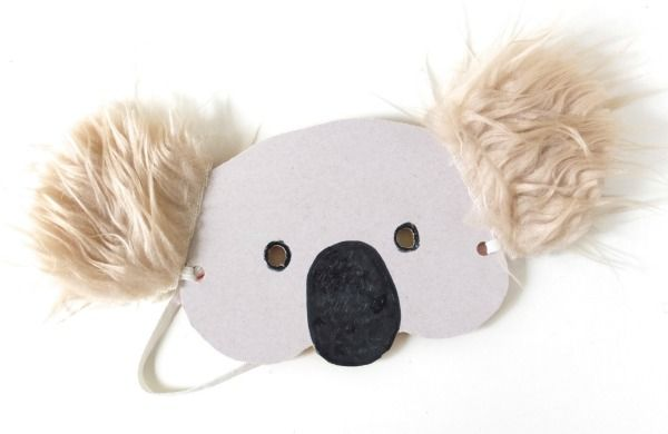 Kids Craft: Koala Mask with Template