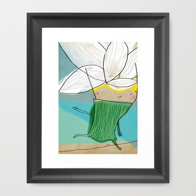 Niñas flor Framed Art Print by Isabel Cabello - $34.00
