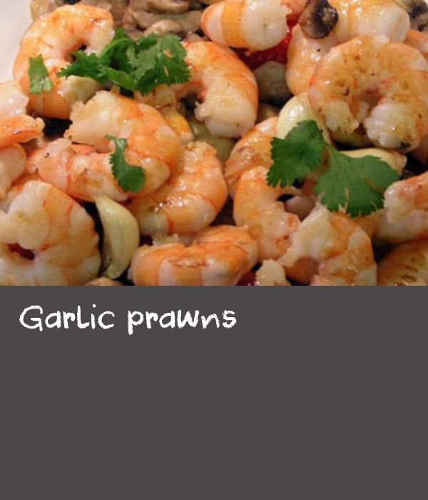 Garlic prawns | This recipe for Spanish-style garlic prawns comes courtesy of Antonia Lopez of Solera catering. It's a great dish for entertaining because all the preparation is done the day before, then it's just a flash in the pan. Serve with a crisp green salad and crusty bread for mopping up the juices.