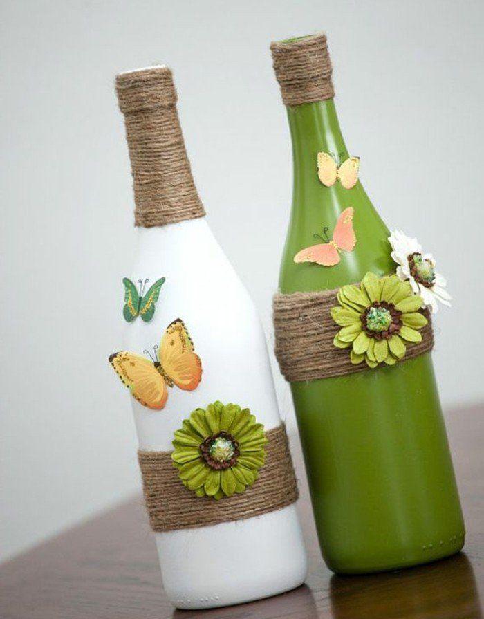 Les 25 Meilleures Id Es Concernant Bouteilles Ficelle Sur Pinterest Bouteilles De Vin De