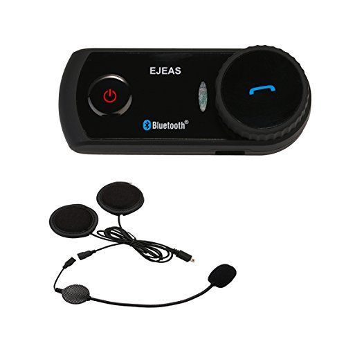 IDEAPRO [Update version] Waterproof E2 BT 1200M Range Motorcycle and Scooter Bluetooth Headset / Intercom Sports Helmet Intercom Bluetooth Interphone (E2, Black). For product info go to:  https://www.caraccessoriesonlinemarket.com/ideapro-update-version-waterproof-e2-bt-1200m-range-motorcycle-and-scooter-bluetooth-headset-intercom-sports-helmet-intercom-bluetooth-interphone-e2-black/