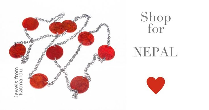SHOP for NEPAL! Silver chain with bamboo red enamel ornaments from Kathmandu, Nepal. http://near-and-far.com/it/home/339-catena-argentata-con-decorazioni-in-bambu-smaltate-rosse.html #solidarity #earthquake #emergency #naturaldisaster