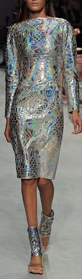 #holographic dress