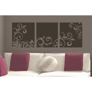 Decorative Flower Panel vinyl wall lettering words sticky art home decor quotes stickers decals