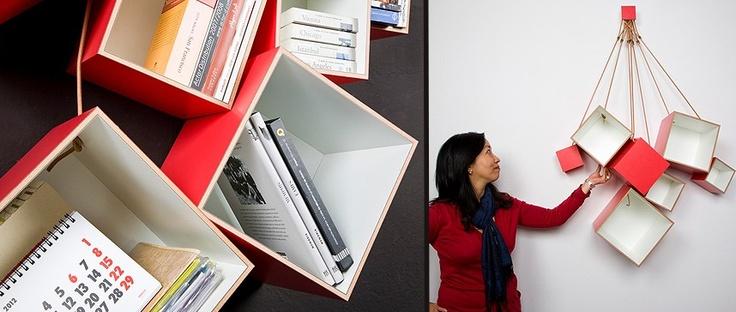 Modular bookshelf.