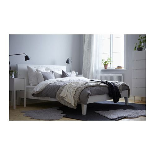 NORDLI Bed frame IKEA If you read or surf the internet in bed, the angled headboard is comfortable to lean against. $279