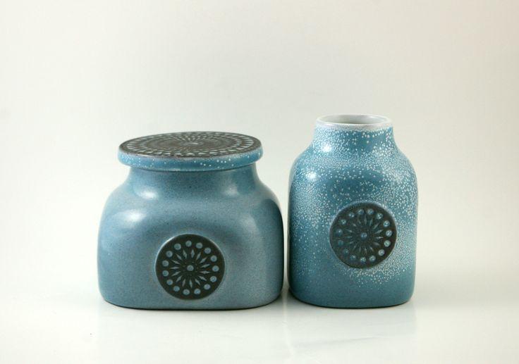 Mari Simmulson 'Roulette' Lidded Jars for Upsala Ekeby were offered by Bit of Butter www.thetastesetters.com