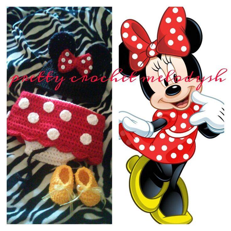 Minnie mouse crochet set