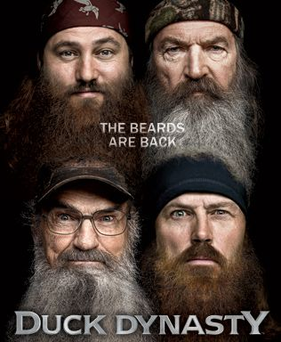 """Duck Dynasy"" on A  Since the show's premiere, the Robertson's have been busy being America's favorite big, bearded, camo-clad family. Despite their modest lifestyle and homes in the backwoods, this close-knit family has made a fortune on duck calls by turning a backyard business into a multi-million dollar sporting empire."