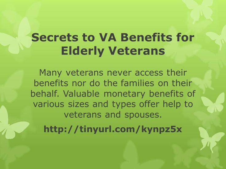Valuable monetary benefits of various sizes and types offer help to veterans and spouses. Find out more here: http://www.boomnc.com/blog/secrets-to-va-benefits-for-elderly-veterans/.