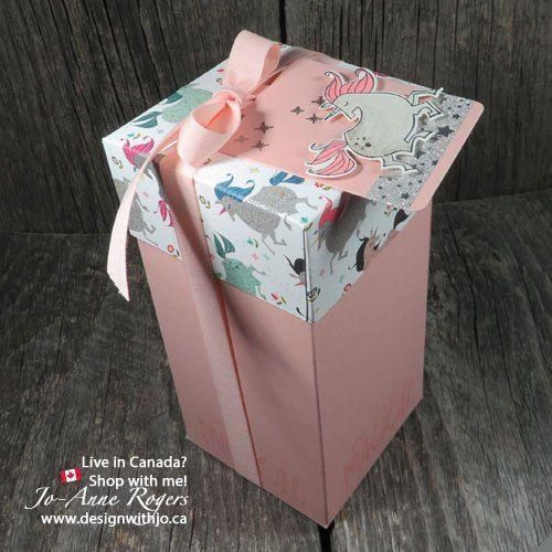 Handmade Unicorn Birthday Gift Boxes 2017 18 Stampin Up Gift