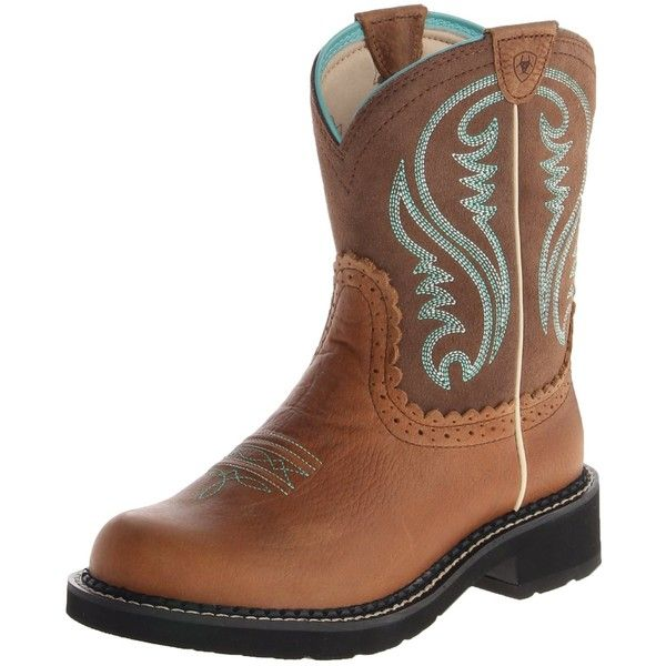 Ariat Women's Fatbaby Heritage Western Boot ($70) ❤ liked on Polyvore featuring shoes, boots, cowgirl boots, cowboy style boots, cowboy boots, ariat shoes and ariat