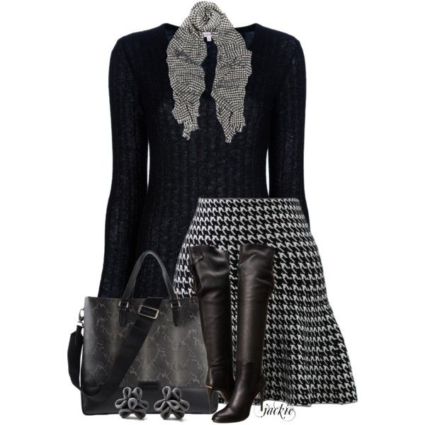 Houndstooth, created by jackie22 on Polyvore
