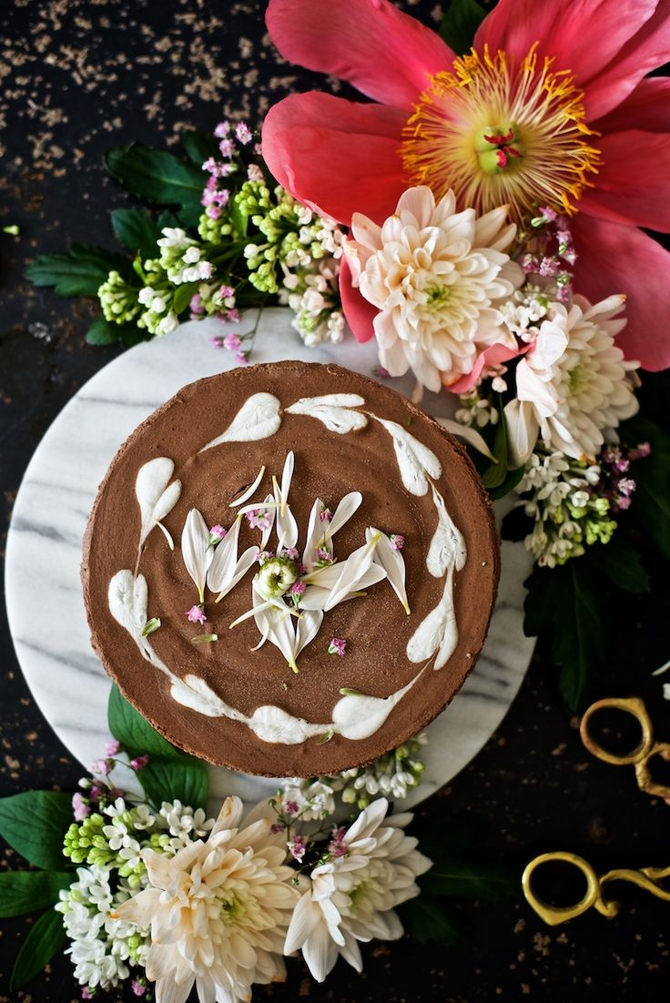 Easy and luscious Chocolate raw cake by Yellow Mood Kitchen.