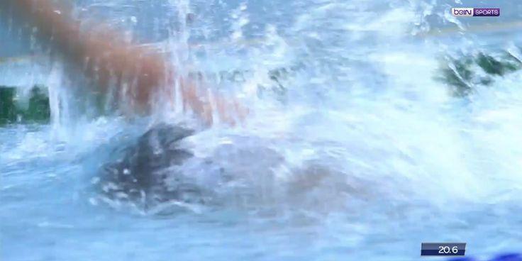 VIDEO - La championne Anna Santamans a préféré nager le crawl pour s'entraîner en vue des championnats du monde.
