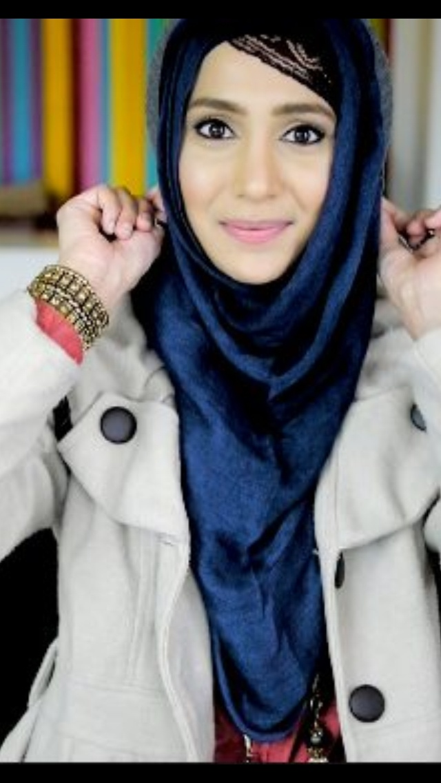 Amenakin hat friendly hijab style | Hijab styles | Pinterest | Nice Hijab styles and Hats