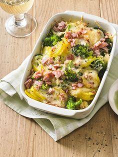 Brokkoli-Kartoffel-Gratin mit Schinken, ein schönes Rezept aus der Kategorie Auflauf. Bewertungen: 118. Durchschnitt: Ø 4,5.