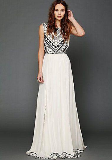 Vestido de noiva diferente com estampa preto e branco. Foto: Green Wedding…