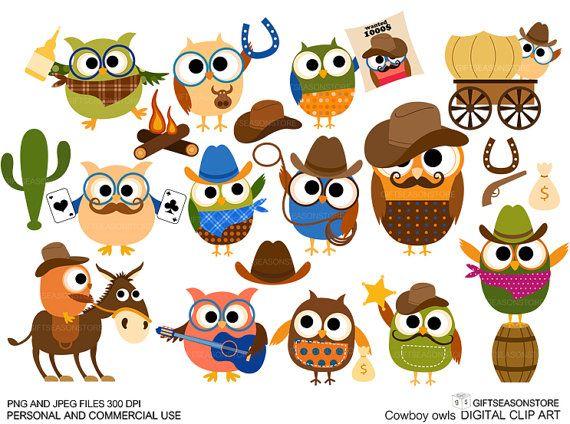 Cowboy uil illustraties voor persoonlijke en door Giftseasonstore