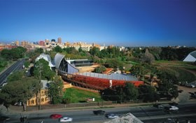 Have any of you ever been here to sample some of the delicious national wines and cheeses? The National Wine Centre of Australia opened in late 2001, and its unique building design resembling the style of a wine barrel has since made it an Australian icon.