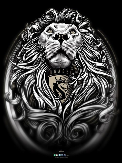 Lion with dreads tattoo drawings - photo#52