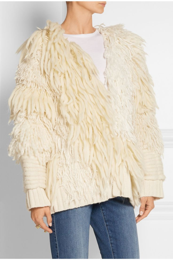 ADAM LIPPES                Fringed wool and cashmere-blend cardigan