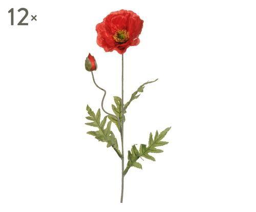 Set di 12 fiori decor di papavero h 100 cm Colore rosso  ad Euro 35.00 in #Frs holding srl #Home decoraccessories plants