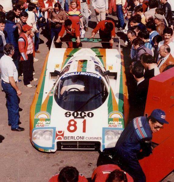 1985 Alba AR 2  Carma (2.520 cc.) (T)  Loris Kessel  Ruggero Melgrati  Aldo…