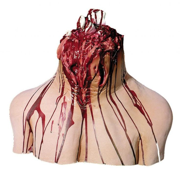 its a gruesome halloween prop that will give your halloween party or haunted house a creepy feel chest to neck stump with pieces of bone sticking out - Bloody Halloween Decorations