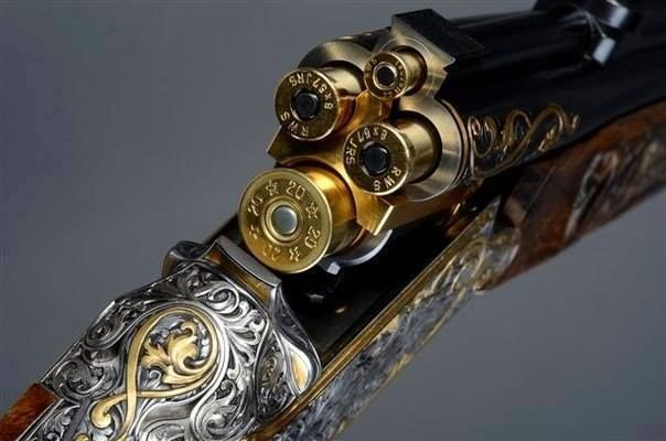 A vierling, a beautiful antique German (combination) gun / handy for (shotgun / rifle ) together in one supreme weapon ✅
