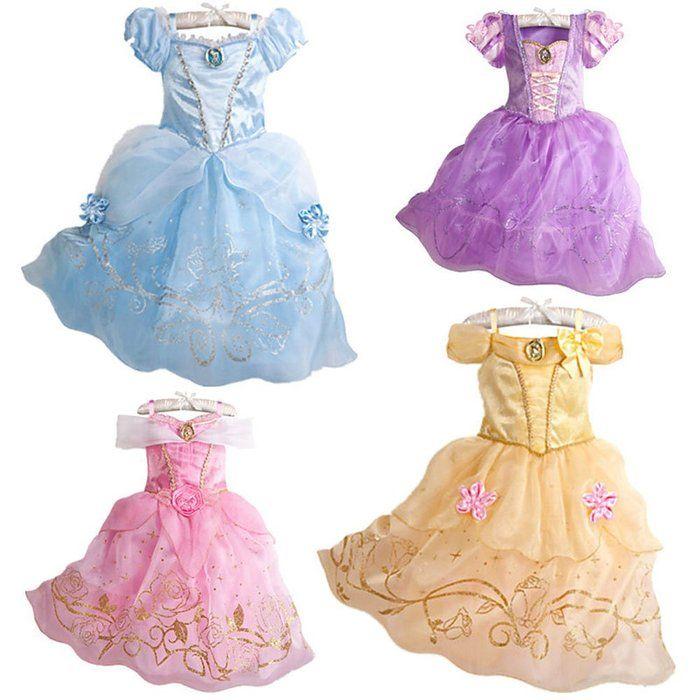 プリンセスなりきり 子供 ドレス キッズ 子ども お姫様 ワンピース お姫様ドレス 女の子 なりきり キッズドレス シンデレラ/ラプンツェル/ベル/オーロラ姫 (100サイズ, パープル風)