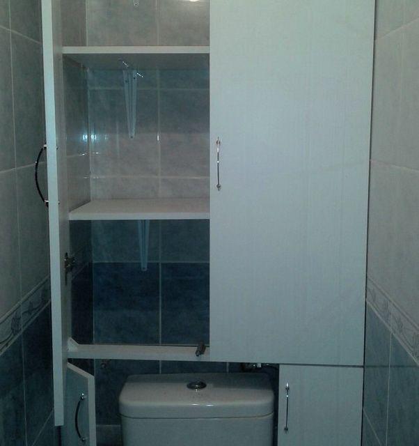 Шкаф в туалет: 15 фото примеров