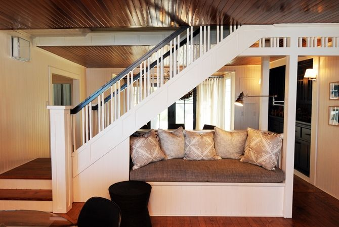 great use of space for under the basement stairs!