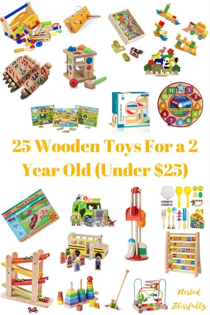 Wooden toys for 2 year old (under $25)