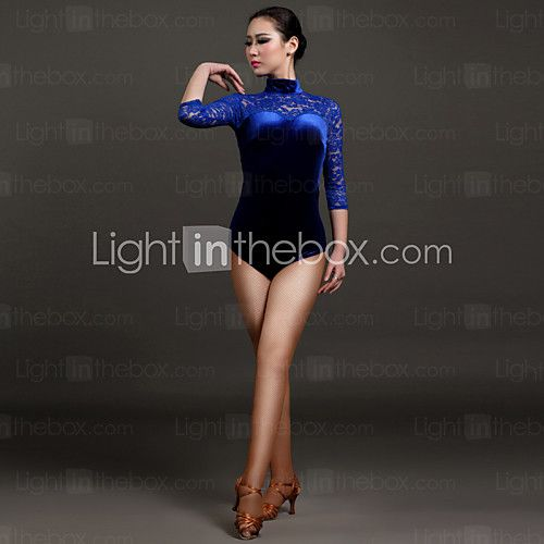 High-quality Velvet and Lace Latin Dance Leotards for Women's Performance(More Colors) 2016 - $49.99