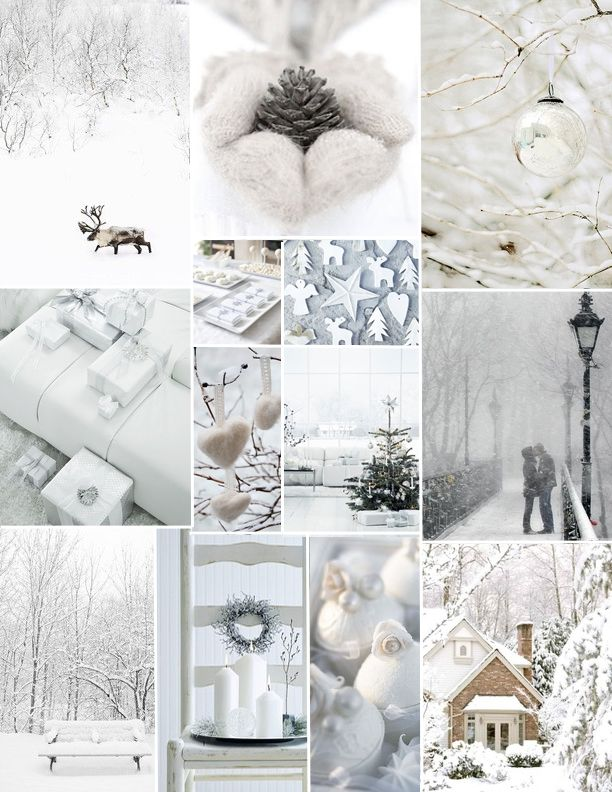 White Christmas mix of photos that can be a nice decor for home. #Christmas #Holiday #White #decorations #ChristmasIdeas #Xmas #ideas #cozy #home #fireplace #Santa #presents #WhiteChristmas #family #peace #tree #ChristmasTree #MerryChristmas