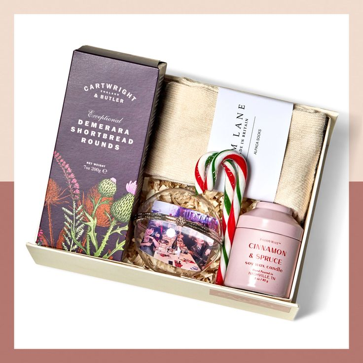 Cosy Christmas gift box.Hand wrapped and hand-delivered ...
