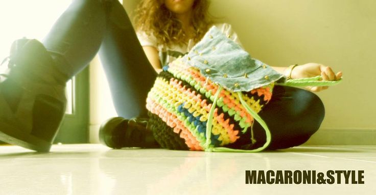 Kntting backpack. Handmade by Macaroni&Style.  https://www.facebook.com/photo.php?fbid=357794427665410&set=a.267337840044403.56655.250924128352441&type=3&theater