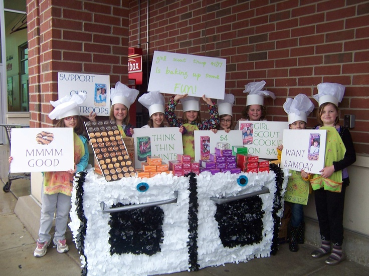 Cute Girl Scout Cookie Booth Idea