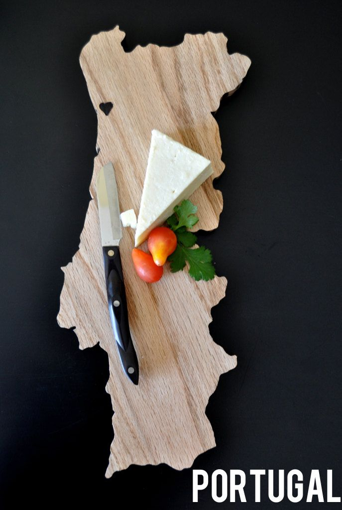 PORTUGAL Country Shaped Cutting Board. by DiamondJWoodcraft on Etsy https://www.etsy.com/listing/182122019/portugal-country-shaped-cutting-board