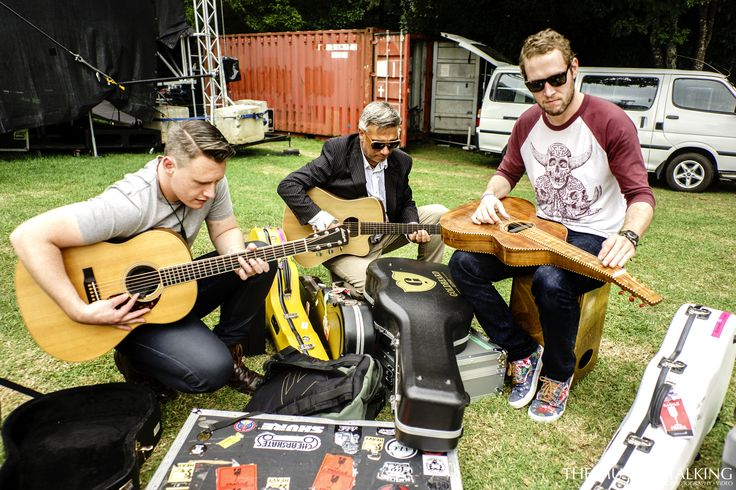 Pass the Gat - Thomas Oliver, Louis Baker, Warren Maxwell all together again at WOMAD NZ 2016. Photo cred   #LouiseBaker #ThomasOliver #WarrenMaxwell #WQMADnz